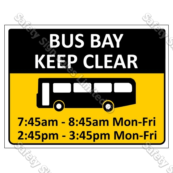 CYO|CS10c Buses Only Sign