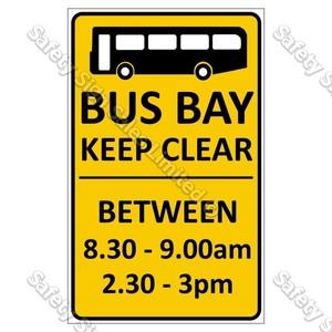 CYO|CS10d Bus Bay Keep Clear Sign