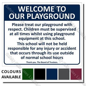 CYO|A01 School Playground Sign