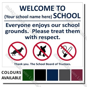 CYO|A04 - Welcome To Our School Sign