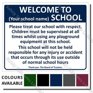 CYO|A05 - Welcome To Our School Sign