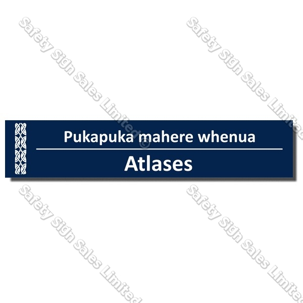 CYO|BIL Atlases - Bilingual Library Sign