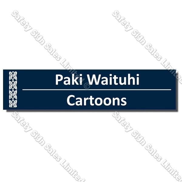 CYO|BIL Cartoons - Bilingual Library Sign