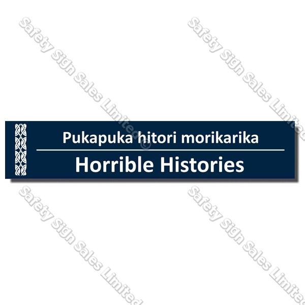 CYO|BIL Horrible Histories - Bilingual Library Sign