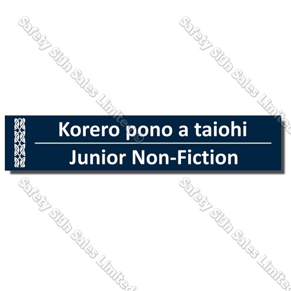 CYO|BIL Junior Non-Fiction - Bilingual Library Sign