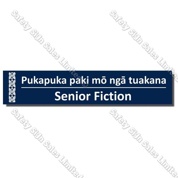 CYO|BIL Senior Fiction - Bilingual Library Sign