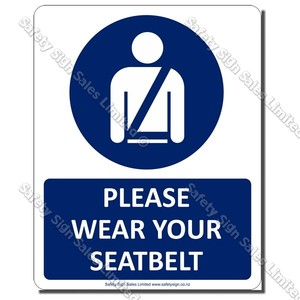 CYO-A30 Wear Your Seat-belt Sign