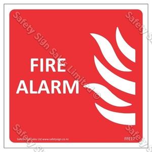 CYO  FFE17 FIRE ALARM Sign