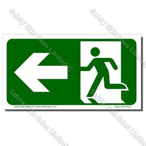 CYO|FFE51 Running Man Arrow to LEFT Sign