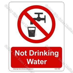 PA49 - Not Drinking Water Sign