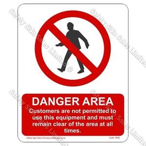 PA50 - Danger Area Sign