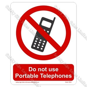 PA54 - Do Not Use Phone Sign
