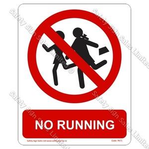 PA71 - No Running Sign