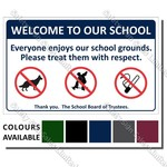 CYO|A08 - Welcome to our School Sign