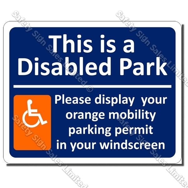 CYO|A52 - Mobility Parking Sign