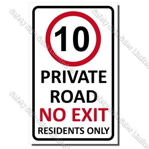 CYO|A56 Private Road No Exit Sign
