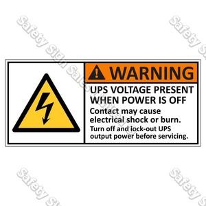 CYO|EL1 - Hazardous Voltage Label