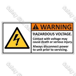 CYO|EL3 - Hazardous Voltage Label