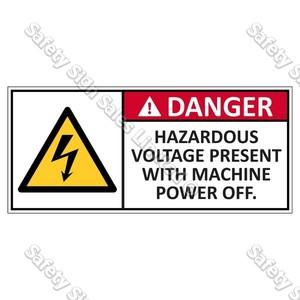 CYO EL4 - Hazardous Voltage Label