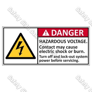 CYO|EL5 - Hazardous Voltage Label