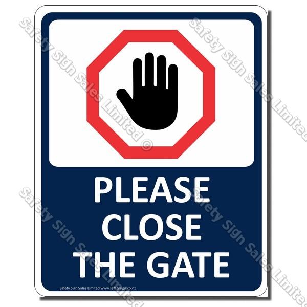 CYO|CS34 - Please Close the Gate Sign