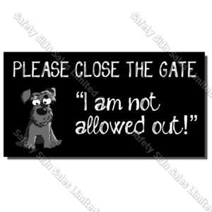 CYO|DS01 Dog Gate Sign