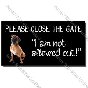 CYO|DS05 - Dog Gate Sign