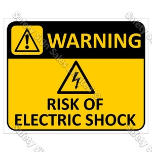 CYO|WA02 Risk of Electric Shock Sign