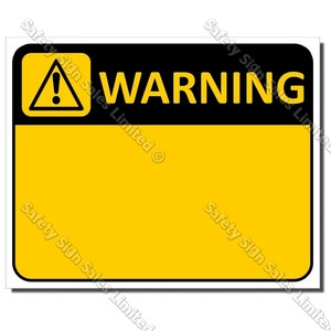 CYO|WA - Warning Custom Made Sign