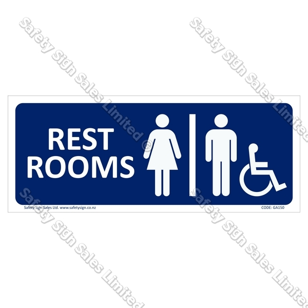 GA150 - Rest Rooms Sign