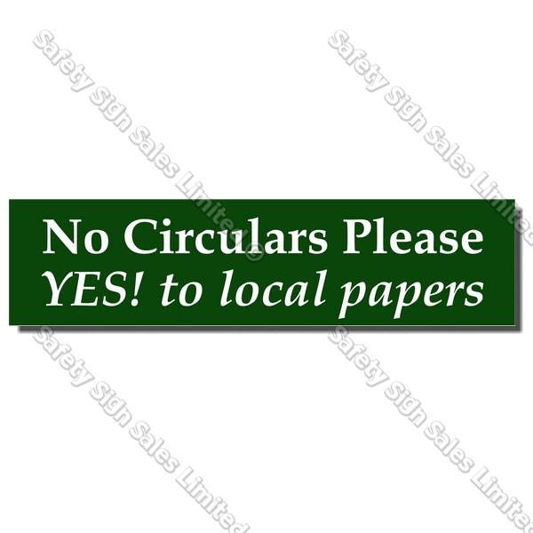 CYO|LB01 - No Circulars Please Label