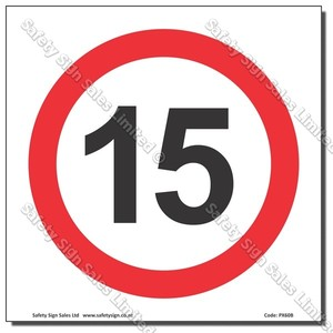 "CYO PX60 - Speed Sign ""15"""