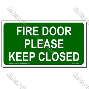 SC47L - Fire Door Please Keep Closed Label