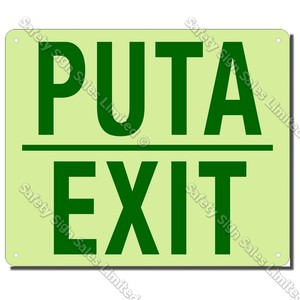 CYO|EG03B1 - Accessible Exit Maori/English Glow-In-The-Dark Sign