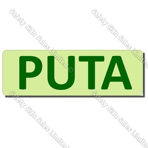 CYO|EG05GIDA - Puta/Exit Maori Glow-In-The-Dark Sign