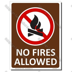 CPG01 360 x 480mm NO FIRES SIGN