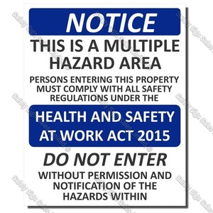 Code: CYO|S09 - Notice Multiple Hazard Area Sign