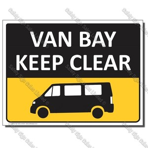 CS10f Van Bay Sign 300 x 480mm