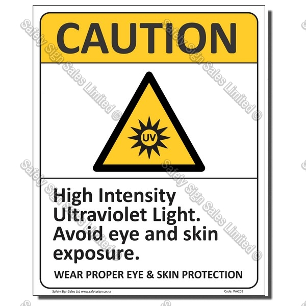 CYO|CA101 Caution UV Light Sign