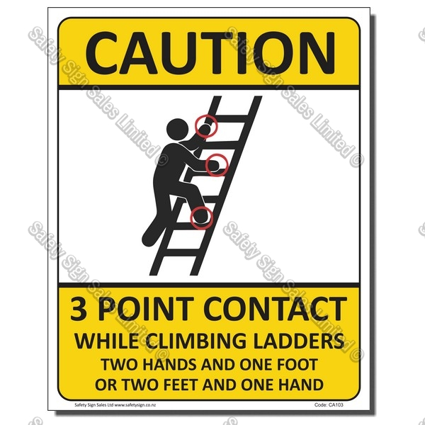 CYO|CA103 - 3 Point Contact Sign Ladder