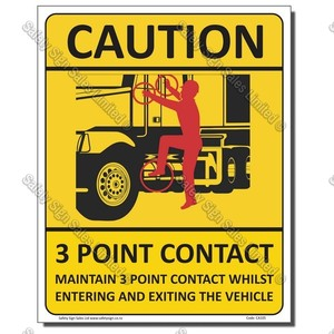 CYO|CA105 - 3 Point Contact Sign Truck Cab