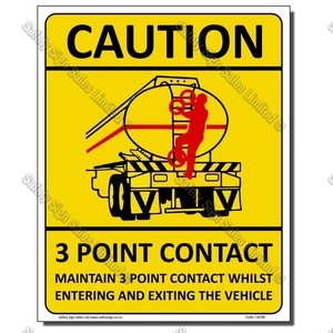 CYO|CA106 - 3 Point Contact Sign Truck Rear