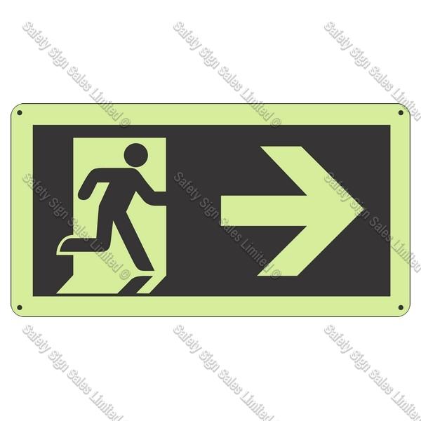 CYO|SCGID11 - Running Man Right Glow-In-The-Dark Sign