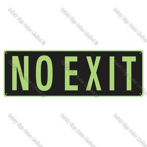 CYO|SCGID13 - No Exit Glow-In-The-Dark Sign.