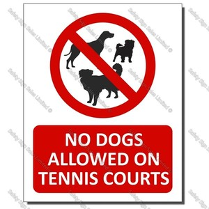 CYO|PA46A - No Dogs Allowed on the Tennis Courts