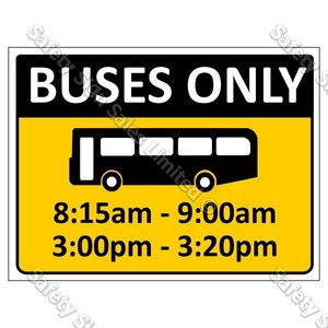 CYO|CS10b Bus Bay Sign
