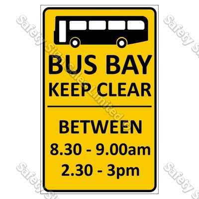 CYO|CS10d Bus Bay Keep Clear Sign
