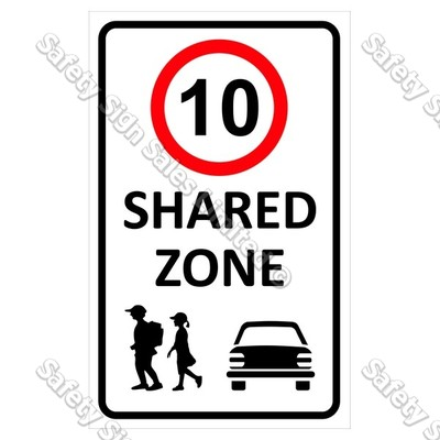 CYO|CS11 Shared Zone 10 km Sign
