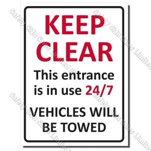 CYO|A50 Keep Clear Sign