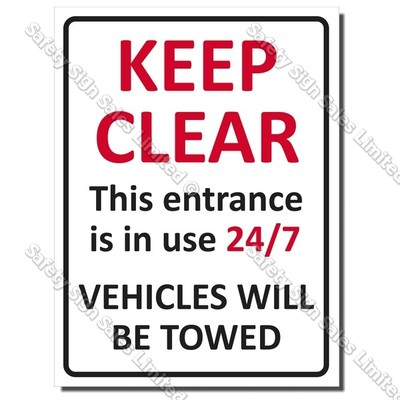 CYO|A50 Keep Clear Sign